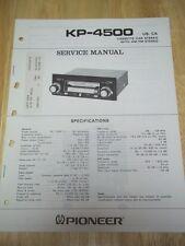 Pioneer Service Manual~KP-4500 Car Stereo Cassette Radio~Original~Repair