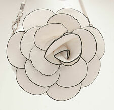 WHITE ROSE FLOWER PURSE COIN BAG YOUNG GIRL COSMETIC PURSE FASHION ACCESSORY BAG