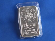 Johnson Matthey Republic Bank Silver 5 Oz Ingot B4440