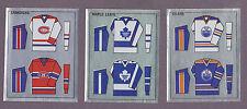 1988-89 Panini NHL Hockey Sticker Montreal Canadiens #250 Foil Jersey