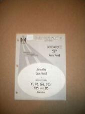 IH INTERNATIONAL CORN HEAD OPERATORS MANUAL  227----1537A