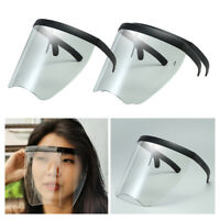 3PCS Safety Full Face Shield Sonnenbrille Transparent Flat Top  Visier
