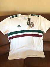 adidas Mexico El Tri 03/19 Short Sleeves White  Soccer Jersey NWT Size 2XL Men