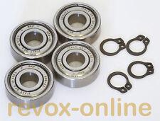 Studer Revox A700, 4 Kugellager 608ZZ für Wickelmotoren + 4 Sicherungsringe