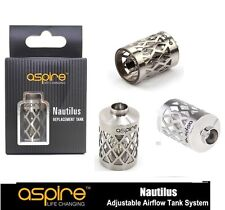 100% Genuine Aspire Nautilus Stainless Steel Glass Tank Replacement  NEW ,,