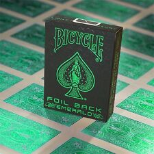 Bicycle-foil back-Emerald Deck poker juego de naipes Playing Cards