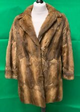 Abrigo de visón real elegante Vintage Chaqueta de piel de lujo bonito Talla Reino Unido 14-en muy buena condición