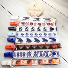 AFL Football Pacifier Clip Binky Binkie Holder Dummy Chain Soother Baby