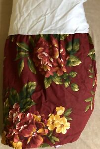 Vintage Waverly Garden Room Manor House Full Bed Dust Ruffle Floral Bedskirt