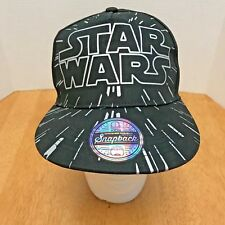 Star Wars Baseball Youth Kids Cap Hat Snapback Black with Silver Logo NEW!