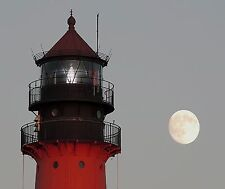 RED LIGHTHOUSE MOON COMPUTER MOUSE PAD 9 x 7