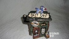 Blue Sky Clayworks Pottery Bait Shop Heather Goldmine Candle House/Excellent