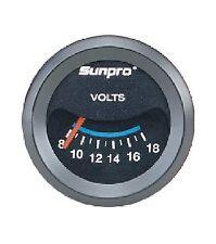 Sunpro 2 Voltmeter Black Black Bezel New Cp7985 0 18v Authorized Distributor