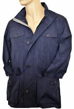 Giubbotto Aquascutum London Sahariana Giacca Blu Blue Uomo Men Jacket Taglia L