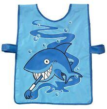 Bugzz Kids Blue Shark tabardo Para Niños CHILDS CHICOS divertido Pintura Cocina Delantal
