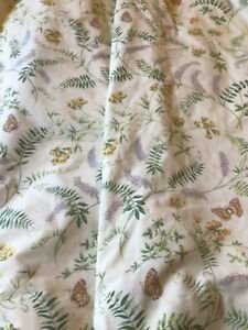 """Pair of Dorma fabric lined curtains 66""""W x 46""""long Cream/Wildflowers"""