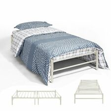 3ft Single Day Bed Trundle Bed Scrub Metal Guest Bed Frame with Solid Metal Slat