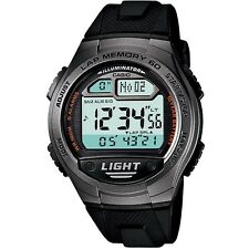 Casio W-734-1AV Grey Black Classic Unisex Digital Sports Watch Gift Box Included