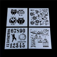 Craft Layering owl bird Stencil Wall Painting Scrapbooking Embossing Paper ZPJM