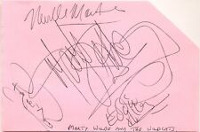 Marty Wilde and The Wildcats signed autograph album page English singer/band