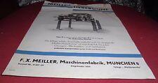 f.x meiller maschinen fabrik münchen kfz hebebühne  DRP reklame werbung 1930 er