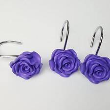 Resin Hooks Decorative Shower Curtain Rose Flower Craft Durable Hooks Decor BL3