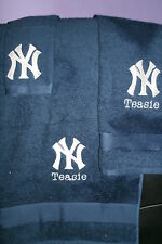 Yankees Personalized 3 Piece Bath Towel Set Baseball Yankees ANY TEAM & COLOR