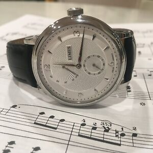 Excellent Limes Pharo Power Reserve Manual Wind German Dress Watch