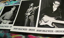 "BUDDY HOLLY- SET OF 3  - 8"" X 10"" PHOTO - FROM  B.H. WEEK 1983 -----  K @ @ L"