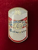 Budweiser Beer Can Advertisement Tie Lapel Epoxy Enamel Pin Vtg