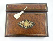 Antique French Ecritoire Writing Box--Boulle Inlay---Elegant Writer Gift