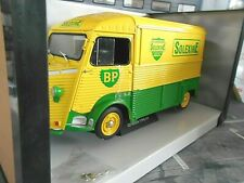 CITROEN Type HY Solexine 1969 gelb grün Lieferwagen Van Bus BP Solido 1:18
