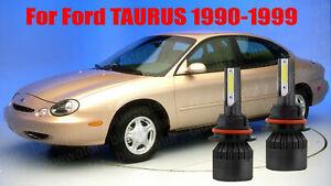 LED TAURUS 1990-1999 Headlight Kit 9007 HB5 6000K White Bulbs High-Low Beam