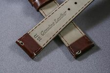 16mm Brown Patent Genuine Leather Interchangeable Watch Strap Band timex woman