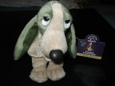 "Vintage Pine Green ""Hush Puppies"" Bean Bag Plush Basset Hound by Applause- New"