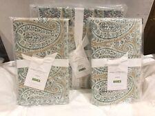 Pottery Barn 100% Organic Cotton Meagan Paisley Full/Queen Duvet & 2 Std Shams