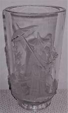 VERLYS Signed Mandarin Pattern Art Glass Vase - ASIAN MOTIF- ca. 1935-1951