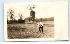 *USA American College Football Player Antique Vintage Real Photo Postcard C85