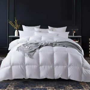 High Filled Fluffy 100% Goose Down Comforter 1200TC 330gsm 68oz 800FP Full Size