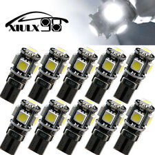 10X T10 Canbus 5 SMD LED Car Error Free Vehicle White Interior Light W5W 194 168