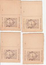 Lotto 4 pz Brigata Perugia 1915-16, non viaggiati