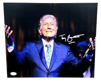 TONY BENNETT HAND SIGNED AUTOGRAPHED 11X14 MUSIC PHOTO WITH JSA COA 1 VERY RARE