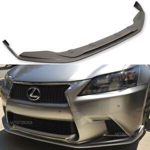 Fits 13-15 Lexus GS350 450 F Sport SK Style Front Bumper Lip Spoiler Body Kit PU