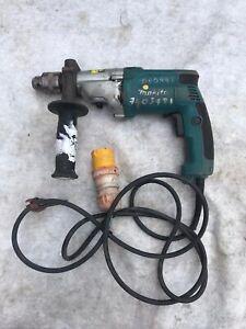 MAKITA HP2050 110v Percussion drill 13mm keyed chuck used