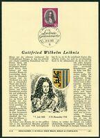Privat ETB Ersttagsblatt Verlag Erich Braun Nr. 118 Bund Michel 518 Leibniz 1966