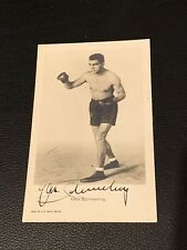 Rare 1934 Max Schmeling Signed Postcard With Vintage Boxing Autograph JSA LOA
