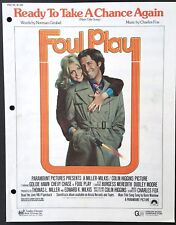 "1978 ""FOUL PLAY"" MOVIE SHEET MUSIC ""READY TO TAKE A CHANCE AGAIN"" - CHEVY CHASE"