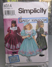 Vintage 1992 Simplicity 8314 Daisy Kingdom Child Girl's dress Size AA 7 10