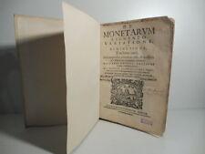 Gaspare Antonio Tesauro, De monetarum augmento variatione et diminutione