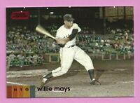 2020 Topps Stadium Club Red #140 Willie Mays San Francisco Giants
